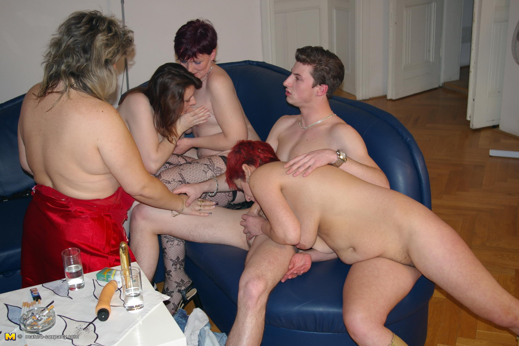 Handjob group women