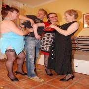 Three horny mamas share one hard cock