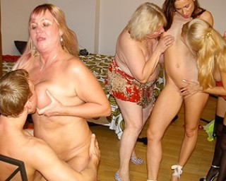Horny mature sluts doing one strapping young lad