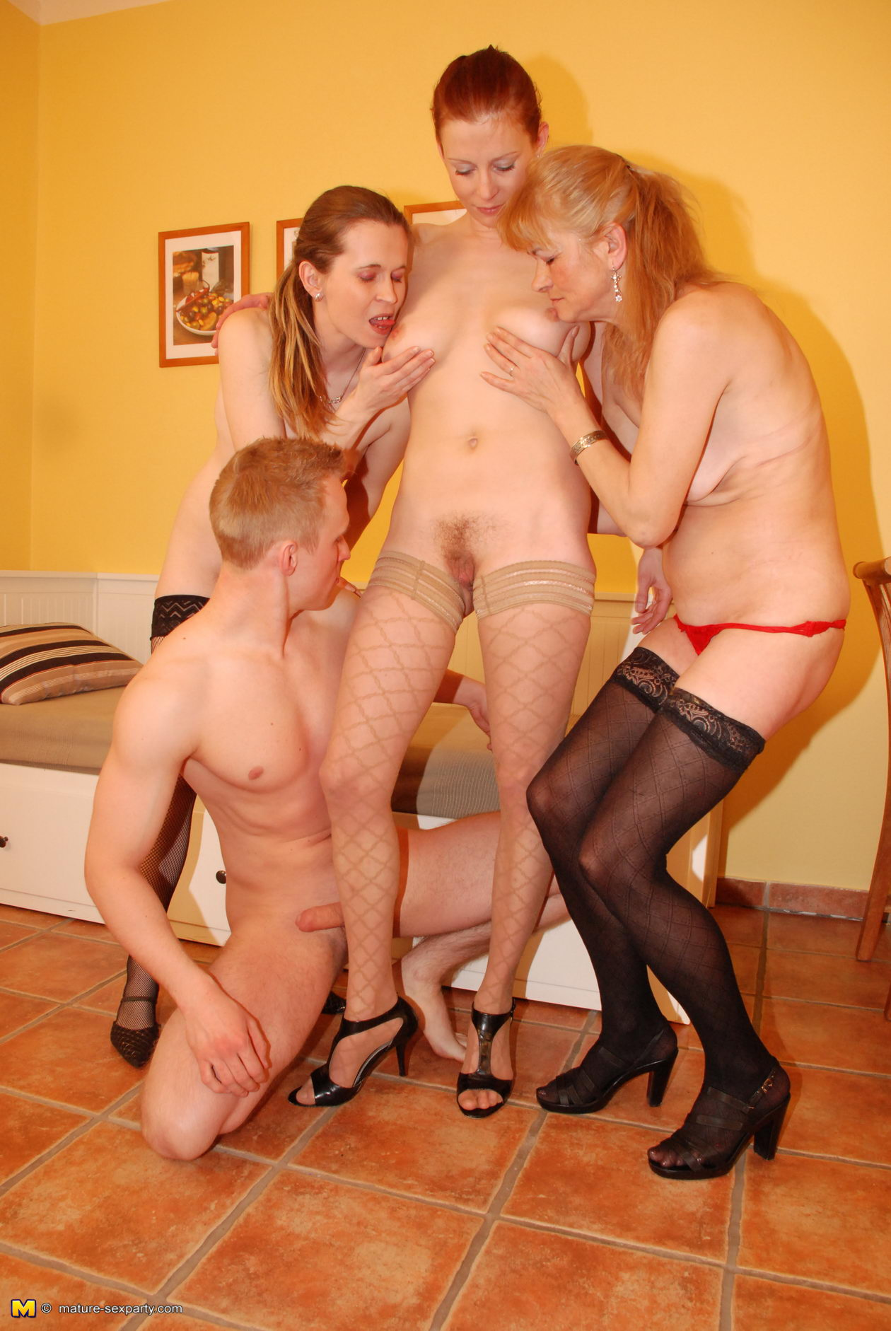 Excited Mature nude orgy thank for