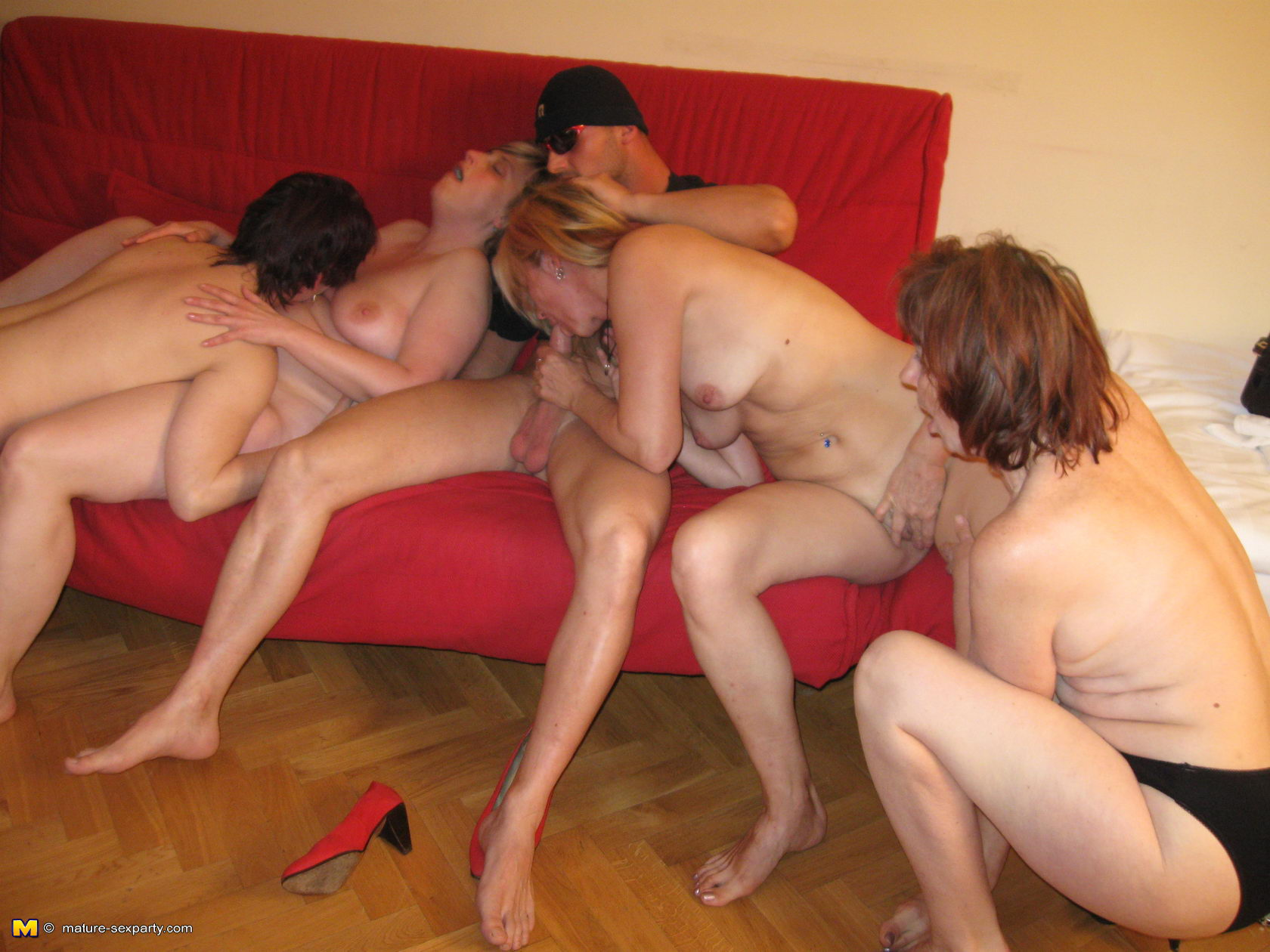 Mom orgy party are