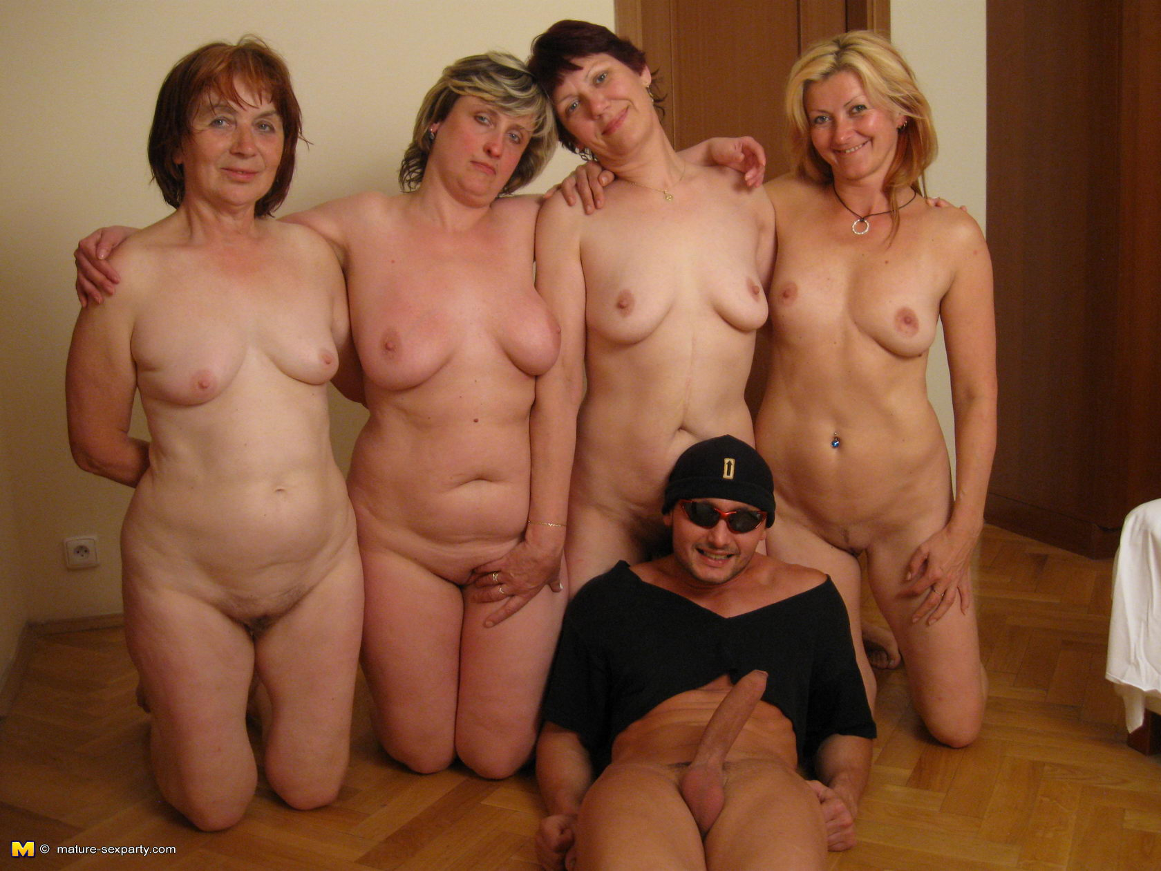 Old man orgy party